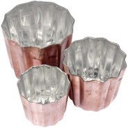 ?? Tinned Copper Bordelais Cannele Mold, 1?? , 1.2