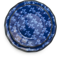 Blue French Floral Salad Plate, 9