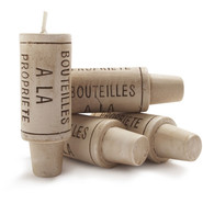 Wine-Cork Candles, Set of Four