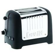 Lite Black 2-Slice Soft-Touch Toaster