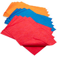 Orange Ombre Ribbed Placemats, Set of Four