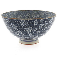 Blue Floral Rice Bowl, 8 oz.