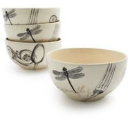Paris Dragonfly Cereal Bowl, 6