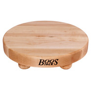 . Maple Edge-Grain Cutting Board with Feet, 12