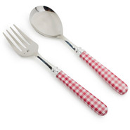 Red Gingham Servers, Set of 2