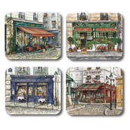 French Cafe Placemats, Set of 4