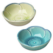 ?? Flower Shaped Dip Bowl, Blue