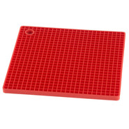 Red Silicone Grid Potholder