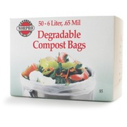 Degradable Compost Bags, Set of 50