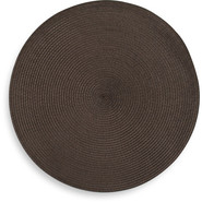 Espresso Round Woven Placemat