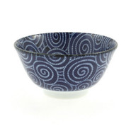 Blue Spiral Soup Bowl, 12 oz.