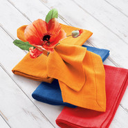 Orange Poppy Napkin Ring