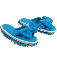 Microfiber Cleaning Slippers, Blue