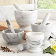 White Marble Mortars & Pestle, 3