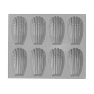 Elastomoule Madeleine Grids, 8 Portions