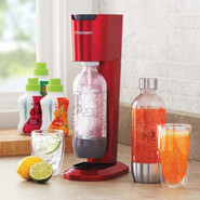 Genesis Sparkling Water & Soda Maker, Red