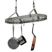 Stainless Steel Pot Rack with Grid