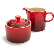 Cherry Sugar and Creamer Set
