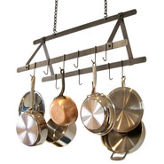 Hammered-Steel Tent Pot Rack, 32