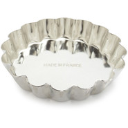 Tinned-Steel Fixed-Bottom Fluted Tartlette Mold, 3