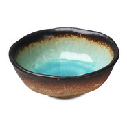 Turquoise Sky Glazed Rice Bowl