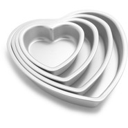 Fat Daddio's Heart Cake Pan, 6  x 2 , 6 x2