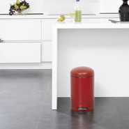 12-Liter Retro Pedal Bin with Motion-Control Lid, 