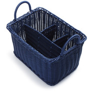 Navy Woven Polycord Flatware Caddy