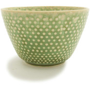 Green Hobnail Tea Cup, 4 oz.