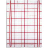 Waffle-Check Kitchen Towel, Red