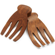 Dark Bamboo Salad Hands, Set of 2