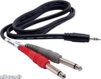 Hosa Stereo 1/8   TRS to Two Mono 1/4   TS Cable (