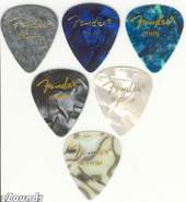 351 Premium Celluloid Thin Picks - Abalone