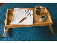 19.75x12x9.5-in. Bamboo Serving Tray with Folding