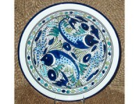 12-in. Aqua Fish Serving Bowl