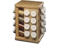32-bottle Carousel Spice Rack, Maple