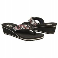 Mush Mandalyn Wedge Sandals (Velvet Flower Black)