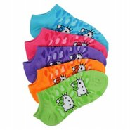 Kids' Hello Kitty 5pk No Show Accessories (Cheetah