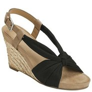 Plush Pillow Sandals (Black Fabric) - Women&#39;s Sand