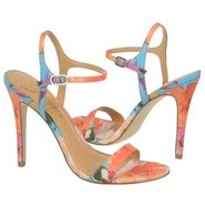 Roxane Shoes (Orange Floral) - Women's Shoes - 9.5