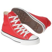 Chuck Taylor All Star Hi Shoes (Red) - Men's Shoes
