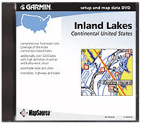 MapSource U.S. Inland Lakes Software DVD