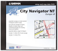 City Navigator Europe NT Software Version 9 DVD