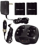 Midland AVP-6 Desktop Charger w/ 2 Rechargeable Ba