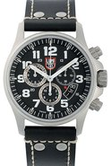 Field Chrono   Alarm Leather Mens Watch   1848