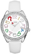 White Leather Ladies   Watch U11066L1
