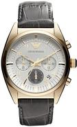 Emporio Armani Leather Chronograph Mens Watch AR03