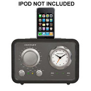CR3010A-BK IDuet Clock Radio/Ipod Dock