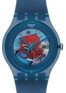 Blue Grey Lacquered Unisex Watch SUON102