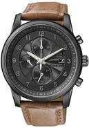 Eco-Drive Chronograph Leather Mens Watch CA0335-04